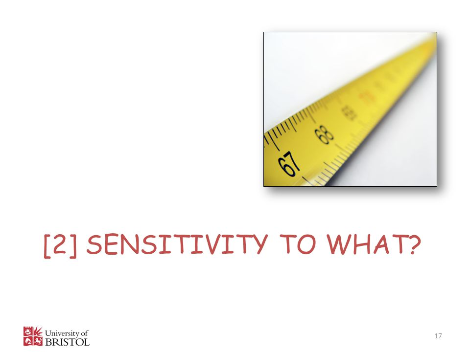 [2] sensitivity to what